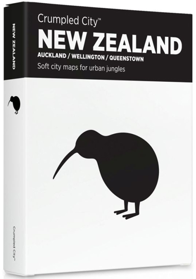 NEW ZEALAND [MAPA TELA] -CRUMPLED CITY MAP