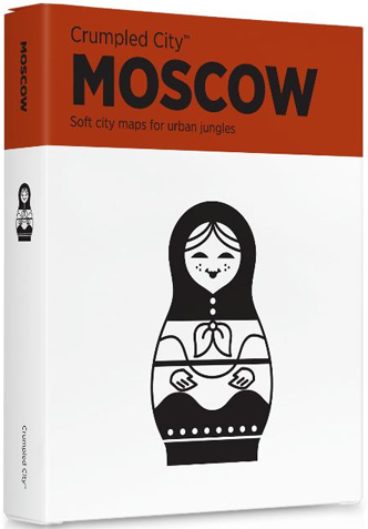 MOSCOW [MAPA TELA] -CRUMPLED CITY MAP