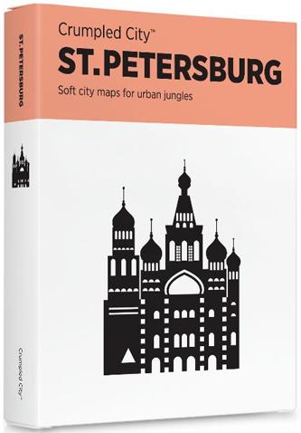 ST. PETERSBURG [MAPA TELA] -CRUMPLED CITY MAP