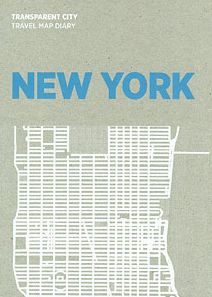 NEW YORK TRANSPARENT CITY MAP DIARY -PALOMAR