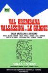22 VAL BREMBANA, VALSASSINA E LE GRIGNE 1:50 000