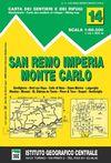 14 SAN REMO, IMPERIA, MONTE CARLO 1:50 000 -IGC