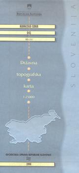041 KRANJSKA GORA 1:25.000 -GEODETSKA