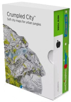 BOX NEW YORK (+ JUNIOR) [MAPA TELA] -CRUMPLED CITY MAP