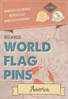 AMERICA [CAJA] -WORLD FLAG PINS -MISS WOOD