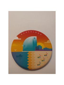 BARCELONETA MAGNET [IMANT DE FUSTA] -DEAR BARCELONA