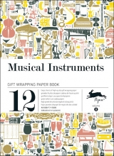 08. MUSICAL INSTRUMENTS -GIFT WRAPPING PAPER BOOK (12 SHEETS 50X70)