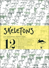 14. SKELETONS -GIFT WRAPPING PAPER BOOK (12 SHEETS 50X70)