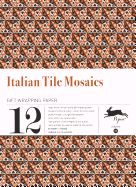 33. ITALIAN TILE MOSAICS -GIFT WRAPPING PAPER BOOK (12 SHEETS 50X70)