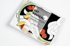 ART NOUVEAU -POSTCARD COLOURING BOOK