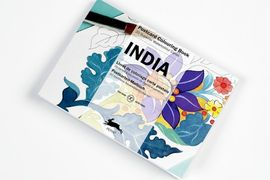 INDIA -POSTCARD COLOURING BOOK