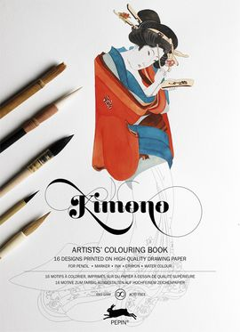 KIMONO -ARTISTS' COLOURING BOOK