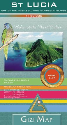 ST. LUCIA 1:50.000 ROAD MAP -GIZI MAP