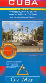 CUBA 1:1.000.000 GEOGRAPHICAL MAP -GIZI MAP