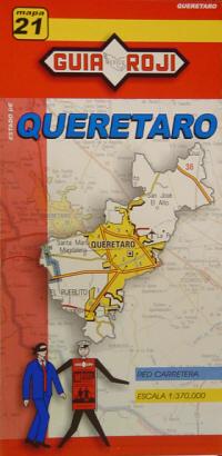 21. QUERETARO 1:370.000 -MAPA GUIA ROJI