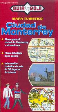 CIUDAD DE MONTERREY. MAPA TURISTICO -GUIA ROJI