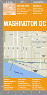 WASHINGTON DC 1:10.000 CITY MAP -DE DIOS