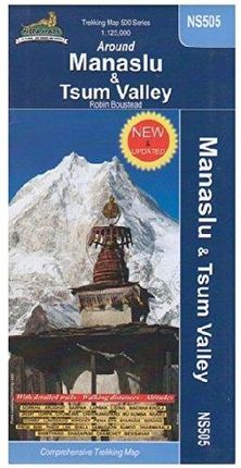 AROUND MANASLU & TSUM VALLEY 1:125.000 HIMALAYAN MAP HOUSE